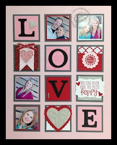 LOVE Framed Art - www.SimplySimpleStamping.com