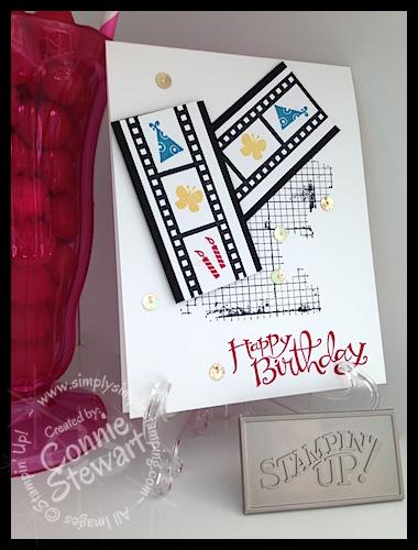 FLASH CARD 2.0 - Birthday Film Strip - www.SimplySimpleStamping.com - Created by Connie Stewart