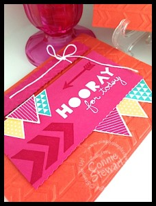 FLASH CARD - Hooray for YOU!  www.SimplySimpleStamping.com - Created by Connie Stewart