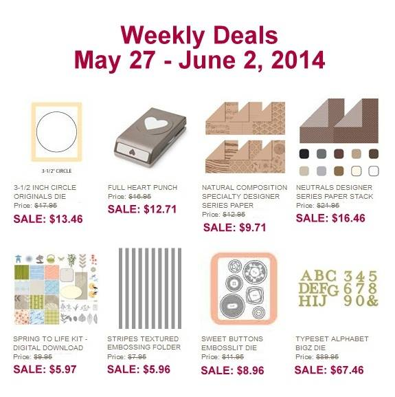 Weekly Deals at www.SimplySimpleStamping.com