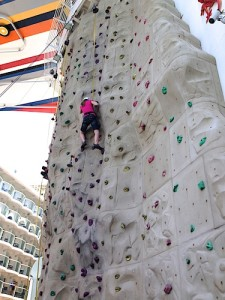 Rock Climbing on Allure of the Seas - www.SimplySimpleStamping.com