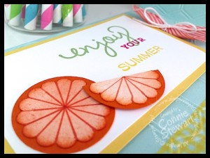 VIDEO TUTORIAL - Stampin' Gals Gone Wild Wednesday - Orange Summertime Card - www.SimplySimpleStamping.com