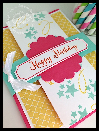 fancy fold birthday card  video tutorial  simply simple stamping, Birthday card