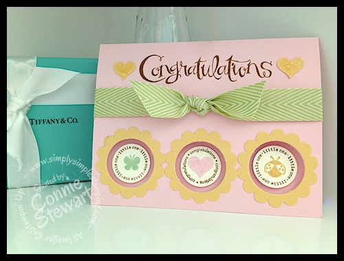FLASH CARD 2.0 - Three Circle Baby Card - www.SimplySimpleStamping.com