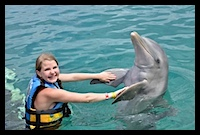 Swimming with Dolphins in Cozumel - www.SimplySimpleStamping.com