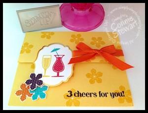 FLASH CARD 2.0 - Happy Hour Flip Card by Connie Stewart - www.SimplySimpleStamping.com