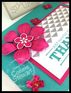 FLASH CARD - Beautiful Bunch Thank You Card by Connie Stewart - www.SimplySimpleStamping.com