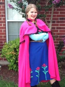 "Ginny as Anna in ""Frozen"""