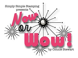 Now or WOW - a new series by Connie Stewart - www.SimplySimpleStamping.com
