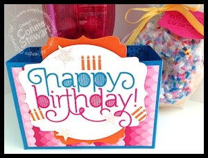 Donut Birthday box for co-workers - www.SimplySimpleStamping.com