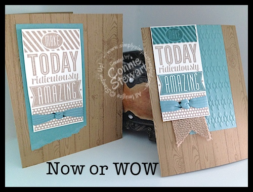 Now or WOW series - Ridiculously Amazing Masculine card by Connie Stewart - www.SimplySimpleStamping.com
