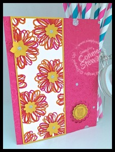 FLASH CARDS 2.0 - Funky Flower Thank You - www.SimplySimpleStamping.com