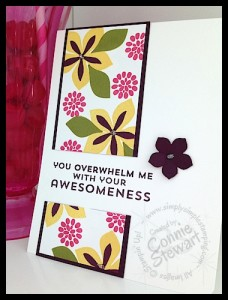 FLASH CARDS 2.0 - Flowers of Awesomeness - www.SimplySimpleStamping.com