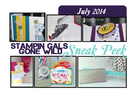 July 2014 Stampin' Gals Gone Wild Sneak Peek!  www.SimplySimpleStamping.com