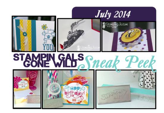July 2014 Stampin' Gals Gone Wild Sneak Peek!  www.SimplySimpleStamping.com