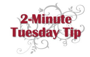 2-Minute Tuesday Tips by Connie Stewart - www.SimplySimpleStamping.com