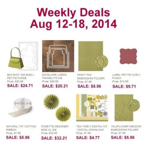 Weekly Deals August 12-18, 2014 - www.SimplySimpleStamping.com