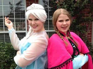 "Christina & Ginny as Elsa & Anna from Disney's ""Frozen"""