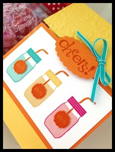 FLASH CARDS - Mason Jar Cheers Card by Connie Stewart - video available at www.SimplySimpleStamping.com