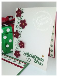 NOW or WOW -Cascading Christmas Flower card by Connie Stewart - www.SimplySimpleStamping.com