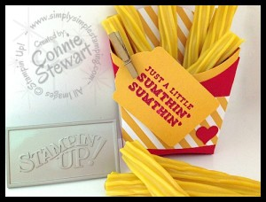 Mickey D's French Fry Box by Connie Stewart - www.SimplySimpleStamping.com