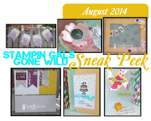 Stampin' Gals Gone Wild August Sneek Peak - www.SimplySimpleStamping.com