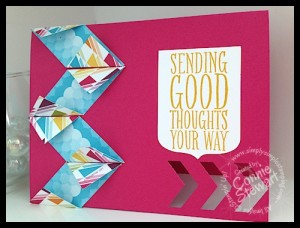 Stampin' Gals Gone Wild Wednesday - Free Video - Simple Chevron Card - www.SimplySimpleStamping.com