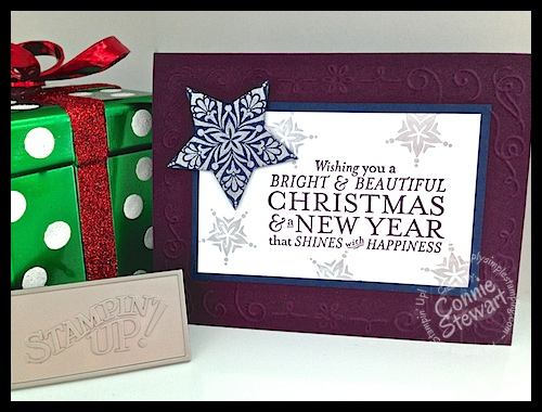 FLASH CARD VIDEO - Bright & Beautiful Christmas Card - www.SimplySimpleStamping.com