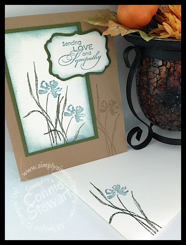 Quick and Easy Masculine Sympathy Card by Connie Stewart - www.SimplySimpleStamping.com