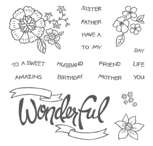 You're Wonderful Photopolymer stamp set - order at www.SimplySimpleStamping.com