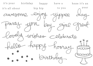 Endless Birthday Wishes Photopolymer stamp set - order at www.SimplySimpleStamping.com