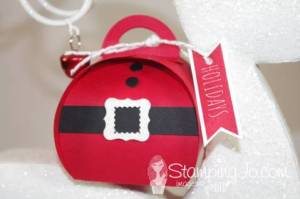 Stampin' Gals Gone Wild Wednesday Freebie -  Check out the video on this Santa box.  So easy with the Curvy Keepsake Box Thinlit - www.SimplySimpleStamping.com