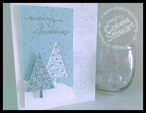 FLASH CARDS by Connie Stewart - Wintertime Christmas Cards - Check out the entire video series at www.SimplySimpleStamping.com