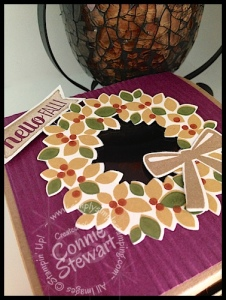 Stampin' Gals Gone Wild Wednesday - Wondrous Wreath Gift Box - see the video at www.SimplySimpleStamping.com