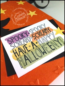 FLASH CARD tutorials - Spooky Screamy Halloweeny Card - www.SimplySimpleStamping.com