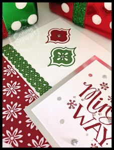 Stampin' Gals Gone Wild Wednesday - Mingle All the Way (2 for 1) Card - www.SimplySimpleStamping.com