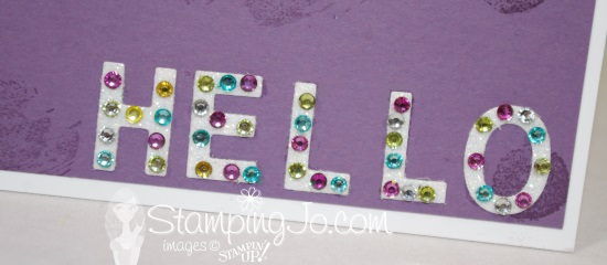 Stampin' Gals Gone Wild Wednesday Video - Bling-y Hello Card - www.SimplySimpleStamping.com