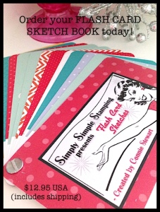 Order your FLASH CARD SKETCH BOOK at www.SimplySimpleStamping.com - 24 FLASH CARD layouts!