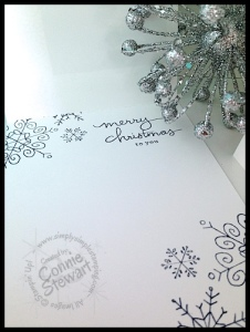FLASH CARD - Snow is Falling Christmas Card - www.SimplySimpleStamping.com
