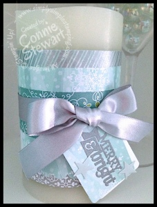 Stampin' Gals Gone Wild Wednesday - Christmas Candle - www.SimplySimpleStamping.com