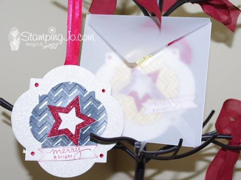 Stampin' Gals Gone Wild Wednesday – Ornament Card by Josee