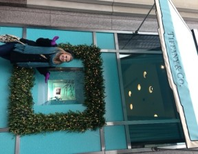 Christmas at Tiffany's in Chicago - Christina looks quite at home