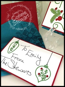 Cheerful Christmas Gift Card Holder - www.SimplySimpleStamping.com
