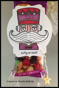 Nutty or Nice - check it out!  The mustache turns! - Created by Brenda McBride, shared on www.SimplySimpleStamping.com