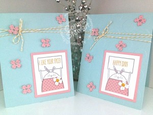 FLASH CARD - Cheerful Critters Bunny Card- www.SimplySimpleStamping.com - Video tutorial available!