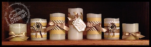 Repurpose Christmas Candles - see samples at www.SimplySimpleStamping.com
