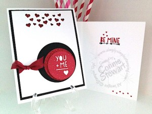 NOW or WOW - You + Me = Love Card - www.SimplySimpleStamping.com