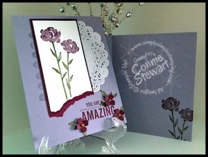 Now or WOW - Painted Petals Amazingly Amazing  Card - video tutorial at www.SimplySimpleStamping.com
