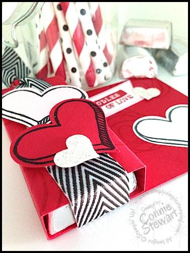 Valentine Chocolate Love Video Tutorial - www.SimplySimpleStamping.com