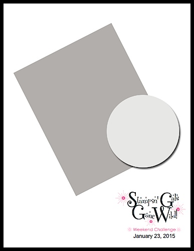 Stampin' Gals Gone Wild Weekend Challenge!  January 23, 2015  www.SimplySimpleStamping.com